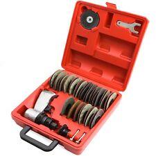 "3"" air surface grinder mini disc sander polisher prep 38 pcs pneumatic tool kit"
