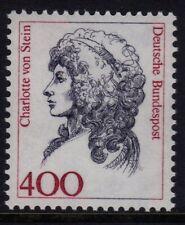W Germany 1986-94 Famous Women 400pf Charlotte von Stein SG 2168a MNH