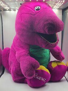 Jumbo 1992 Lyons Group Barney And Friends Purple Dinosaur Plush Soft Stuffed Toy