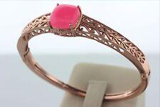 Chuck Clemency NYCII Rose Vermeil Sterling Silver 925 Filigree Hinged Bracelet