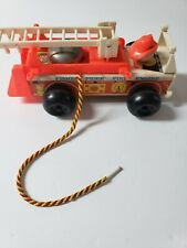 Fischer Price Fire Engine 1968 Wood And Plastic