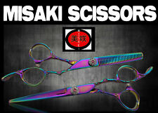 """Hair Scissors Set Brand New  6.0""""  Misaki with cloth,comb,oil and a case PV66"""