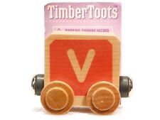 Timber Toots Name Trains Wooden Railway System Alphabet Preschool Toys Letter V