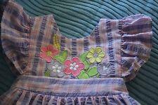 size 3 SAMARA dress pants set soft cotton plisse seersucker applique embroidery