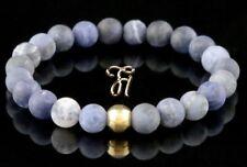 Sodalit 925er sterling Silber vergoldet Armband Bracelet Perlenarmband 8mm