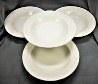 (4) Mikasa English Countryside White Large Rim Soup Bowls (DP 900 Malaysia-E)