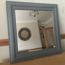 vintage grey wall mirror square frame dorset country style wall mirror 55x55cm
