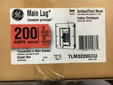 DISCOUNTED GE 200 AMPS MAIN LUG INDOOR LOAD CENTER (PANELBOARD), PART # TLM3220C