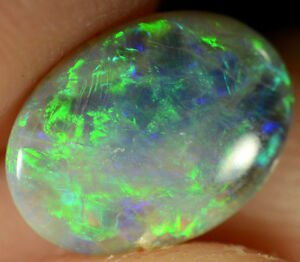 Crystal Opal Australian natural solid 1.20 ct very bright gemstone MAKE AN OFFER