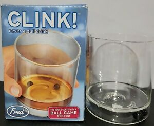 Fred & Friends CLINK! Ball Game Rocks Glass Fun Drinking Friends Patry Activity