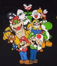 Nintendo Mario Bros. Luigi Wario Yoshi Koopa Toad Bowser Mens T-Shirt Small NWT