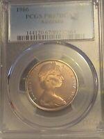 1966 20c Australian Ten Cent Coin PCGS PR67DCAM with Natural Golden/Smoke Tone