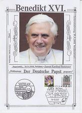 """Benedikt XVI. - Erinnerungsblatt """"Besuch in BRD / Ankunft am Flughafen"""" 2005"""