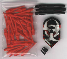"""BIOHAZARD"" Soft Tip Dart Upgrade Kit: Red Tips, Black Knurled Shafts & More"