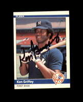 Ken Griffey Hand Signed 1984 Fleer New York Yankees Autograph
