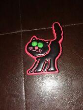 Vintage Black & Orange Halloween Cat eyes flash &plays music