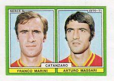 figurina CALCIATORI EDIS 1970-71 CATANZARO MARINI, MASSARI
