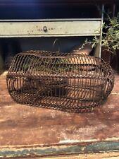Antique Vintage Early Primitive Wire Cage Live Catch Mouse Rat Pest Rodent Trap