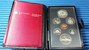 1981 Canada Uncirculated Proof Coin Set, Locomotive $1 Commemorative Silver Coin