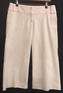 12 MISS SHOP Blush Baby Pastel Pink Wide Leg Cropped Crop Pants Trousers EUC