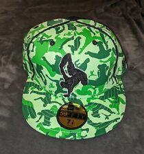 BREAK DANCE B Boy New Era Fitted Hat Cap 7 1/8 59 FIFTY NWT Mint Flat Bill Green