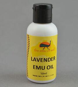 Australisch Emu Öl mit Lavendel Öl 50ml. Perfekt für Massage und Brandwunde