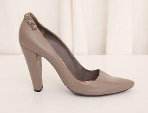 MARC JACOBS Womens Taupe Leather Studded Pointy-Toe High-Heel Pump Shoe 11-41