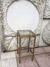 Sellette en fer forgé doré Henri Pouenat Maison Ramsay Table Vintage 1950