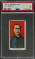 Very Rare 1909-11 T206 HOF Jake Beckley Sovereign 350 Kansas City PSA 5 EX