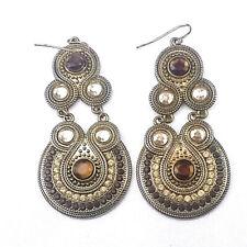 India Bollywood Owls Earrings Jewelry Gold Tone Jhumka Wedding Bridal
