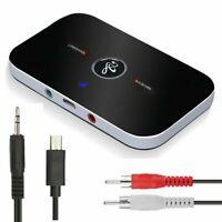 Bluetooth Transmitter Empfänger Wireless Aux Audio Adapter Für TV Kopfhörer