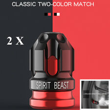 2pc Fashion Black Red Aluminum alloy Decoration Motorcycle tire Gas nozzle cover