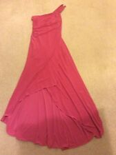 """Pink evening dress full length 10 12 28""""-30""""waist up to 36"""" bust"""