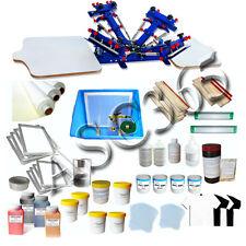 Micro-adjustable 2 Station 4 Color Silk Screen Printing Kit shirt Press Tools
