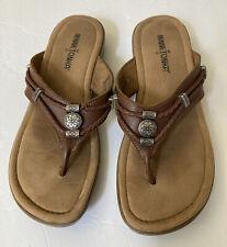 Minnetonka Womens  Down  Casual Slip On Flat Thong Sandals Size Us 8