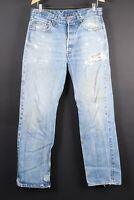 Vintage LEVI'S 501 Button Fly Denim Jeans Mens Size 35x36 Actual (34x34)
