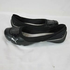 "PUMA SPORT Lifestyle Slip On Rubber Flat Shoes Black Size 9"" 40 Athleisure"