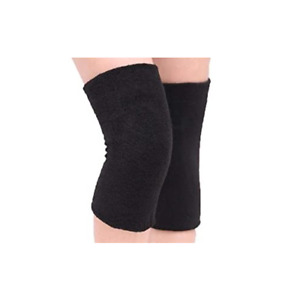 Angora Knee Warmer With Support, Black