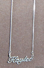 """925 Sterling Silver Name Necklace - Name Plate - KAYLEE 17"""" chain w/pendant"""