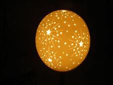 Straußenei Lampe Lampenschirm  Sternenexplosion Strausseneilampe Starburst