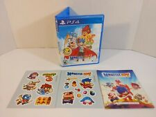 Monster Boy and The Cursed Kingdom (PlayStation 4, 2018) Complete W/ Stickers