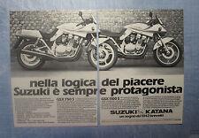MOTOSPRINT982-PUBBLICITA'/ADVERTISING-1982- SUZUKI GSX 750 S + GSX 1100 S