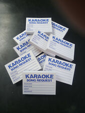 (1000x) Karaoke request slips - Blue