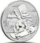 2020 1 Oz Silver $1 Tuvalu BART SIMPSON BU Coin.