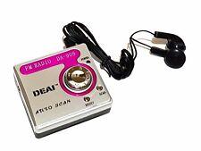 Tragbares Taschenradio Radio AM FM Batteriebetrieben für Arbeit Unterwegs Pink