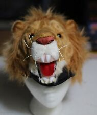 adult LION HAT costume Halloween Costume animal cap Adult PLUSH cowardly king