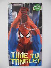 Fantástico Spider-man tiempo para enredo Cartel Tarjeta Cumpleaños tarjeta de saludo