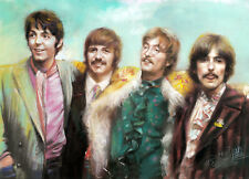 Limited Edition Beatles - Haiyan's Pastel Artwork  Giclee Stretched Canvas 16x20