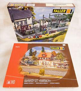 FALLER BAHNHOF MARBACH 190274 + UMSPANNWERK 130958 Spur H0