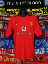 5/5 Manchester United adults XL 2002 home football shirt jersey trikot soccer